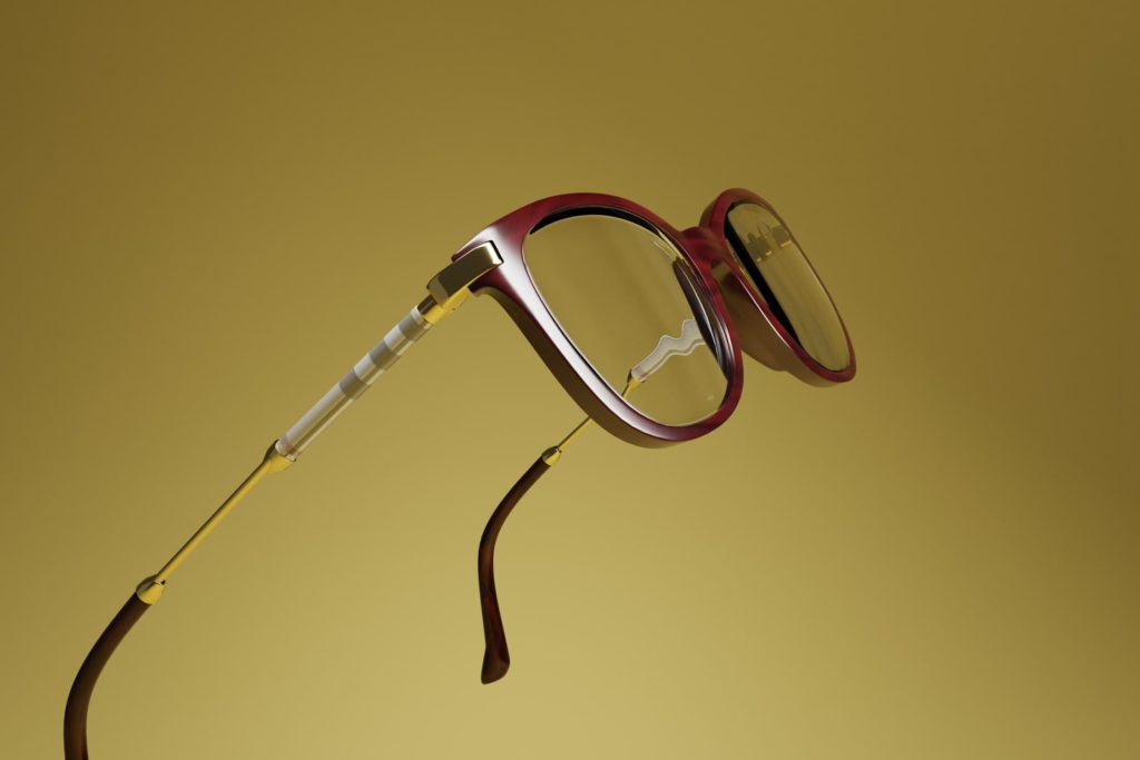 CGI Project with Burberry Glasses Frame Detail